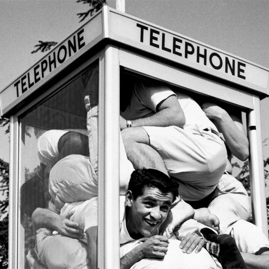historic phone booth stuffing