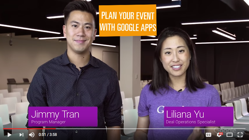 Plan your event with Google Apps