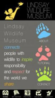 Lindsay Wildlife App Screen
