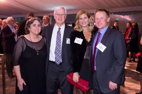 Jane Purinton and President Donahue with Shanette and Matthew Westphal