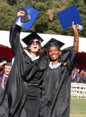 New grads celebrate after the ceremony.