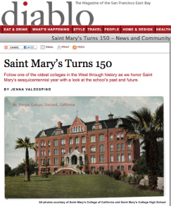 Diablo magazine reports on SMC's 150th.