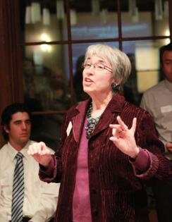 Gina Snyder reveals the finer points of business etiquette to SMC students.