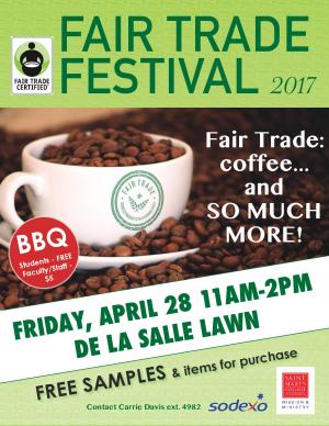 Fair Trade Festival and BBQ Flyer