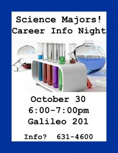 Science Majors - October 30, 2014