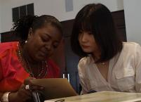 Vickia Brinkley and Christine Oh at August 2013 COD facilitator training