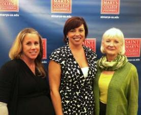Left to right: Trish Palumbo, vice president of talent management at Taos Corp.; Brandi Narvaez, COO of Aventura Corp.; and Rosemary Maxwell Lynch, author of Ten Principles for Executive Women, also took part in the leadership speaker series.
