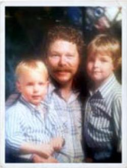 Perry Steven Amendt—pictured here with his sons Travis, left, and Zachary, right—was a San Bernardino native who received a degree in philosophy from California State University, San Bernadino. He died in Palm Desert on November 6, 2012, from renal failure. He was 59.