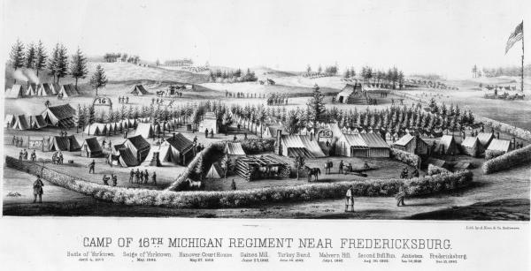 Camp of 16th Michigan near