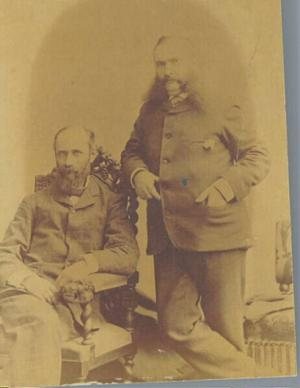 Thomas Morris and Edward Hill,16th Michigan ca. 1880