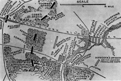 Map of the Battle of Savage Station