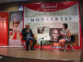 Lysley Tenorio at National Bookstore