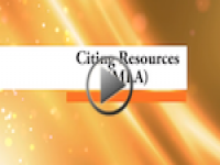 Citing Resources (MLA)