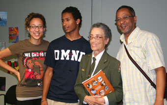 Betty Reed Soskin, America's oldest National Park Ranger, with SMC students