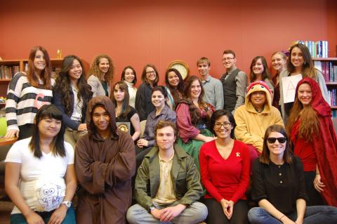 Spring 2014 Staff dressed as their favorite authors and characters