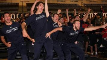 SMC's men's basketball team reacts to an at-large bid in the 2017 NCAA Tournament