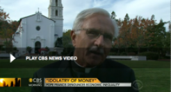 """Fr. Mike Russo interviewed by CBS This Morning about Pope Francis' Apostolic Exhortation """"Evangeli Gaudium""""."""