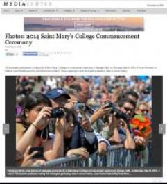 Mercury News Media Center Feature on SMC's 2014 Undergraduate Commencement Ceremony