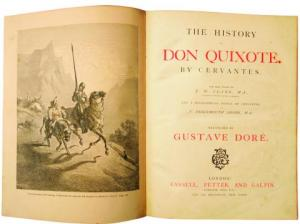"""""""Finally, from so little sleeping and so much reading, his brain dried up and he went completely out of his mind."""" —Miguel de Cervantes, Don Quixote"""