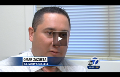 Admissions Omar Zazueta speaks with KGO-TV about problems with the Common Application.