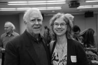 Saint Marys English Professor Brenda Hillman with husband and former US Poet Laureate Robert Hass at the 33rd Northern California Book Awards ceremony.