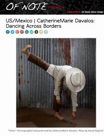 OF Note Magazine article focusing on SMC's Cathy Davalos