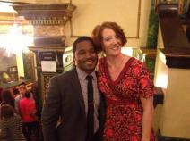 Fruitvale Station director, and former SMC student, Ryan Coogler with English Professor Rosemary Graham
