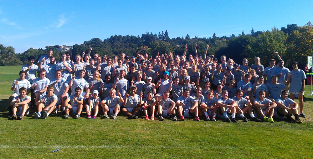 Saint Mary's Men's Rugby and Cal Women's Rowing at the 2012 Jog for Jill.
