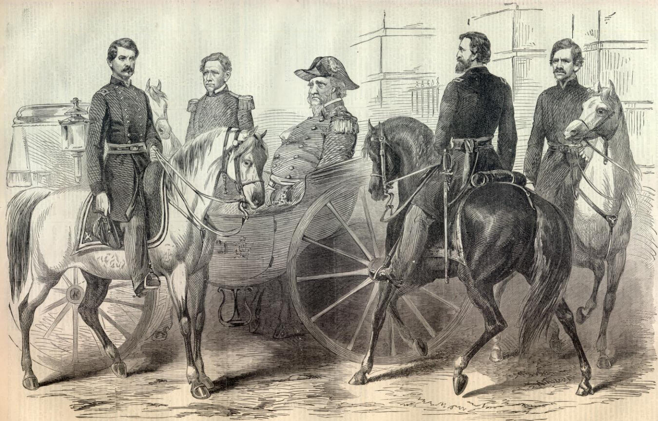 Scott and his generals (General Banks on far right)