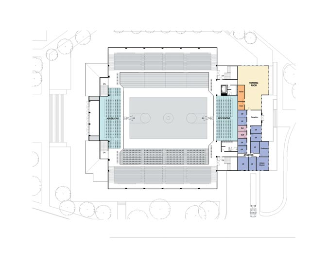 Second floor plan for new SAPC.