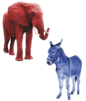 donkey and elephant