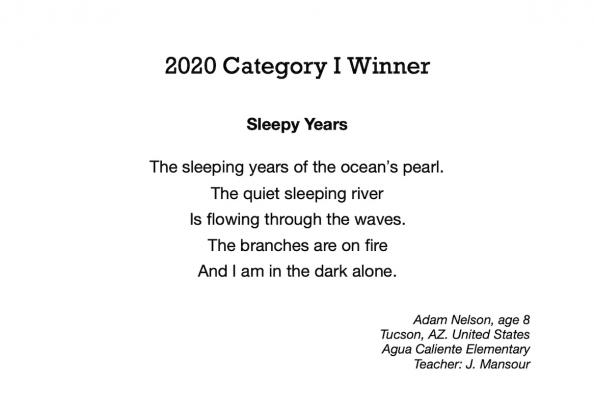 WINNER I. Nelson, Adam - Sleepy Years
