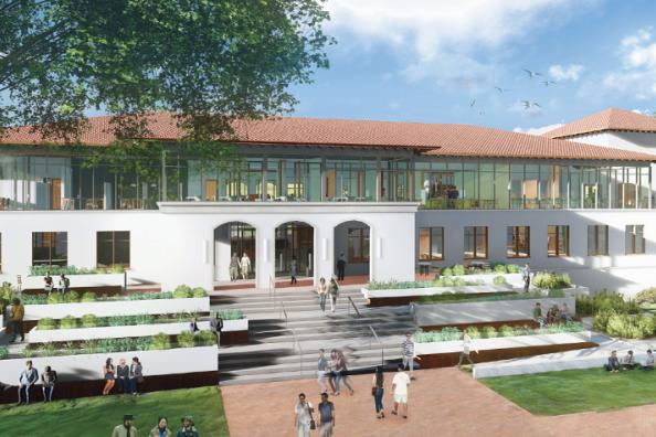 Rendering of the new Library & Innovation Center