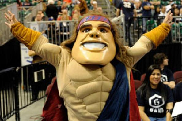 The Smiling Face Behind the Gaels Mascot