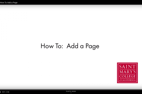 How to Add a Page Screen