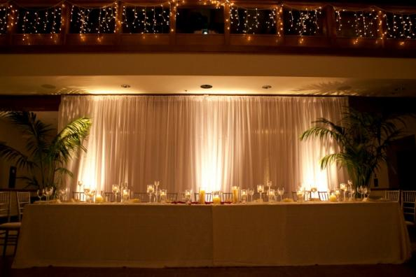 Lighting and Table Decor at Soda Center