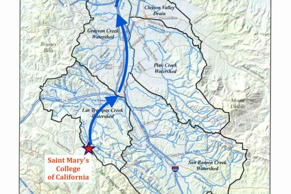 Get To Know Your Watershed | Saint Mary's College California Watershed Map on