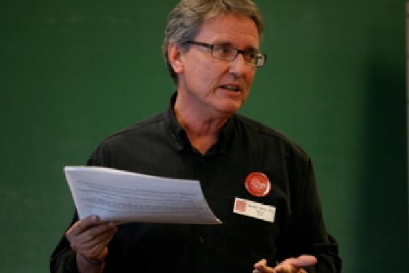 Marshall Welch, institute facilitator, presenting at a regional conference.