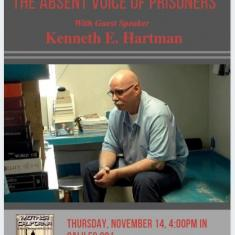 """Image for SMC Politics Department Presents Kenneth E. Hartman on """"The Absent Voice of Prisoners"""""""