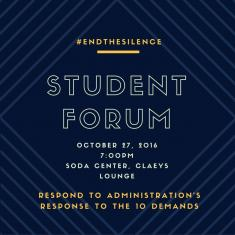 Image for #EndtheSilence Student Forum