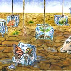 """""""River and Drought Resque"""" Kane Lee. River of Words Finalists 2010. Merrimac, Australia"""