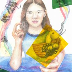 """""""The Things to Save"""" Jiyeon Han, age 14 Cupertino, California. United States"""