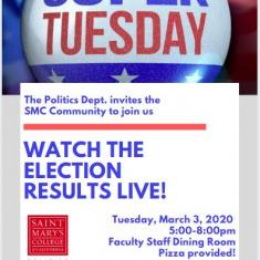 Image for Super Tuesday Election Results Viewing Party