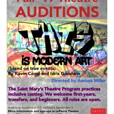"""Image for Auditions for """"This is Modern Art"""" Fall Theatre Production"""