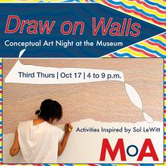 Image for Third Thurs   Draw on Walls: Conceptual Art Night
