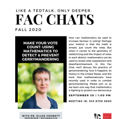 Image for FAC CHATS with Dr. Ellen Veomett