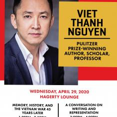 Image for POSTPONED to FALL 2020: A Conversation on Writing and Representation with Viet Thanh Nguyen