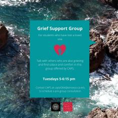 Image for CAPS Virtual Grief Support Group-Tuesdays 5-6:15 p.m.