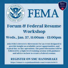 Image for FEMA Forum and How to Create a Federal Resume