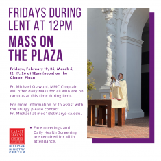 Image for Mass On The Plaza - Fridays during Lent